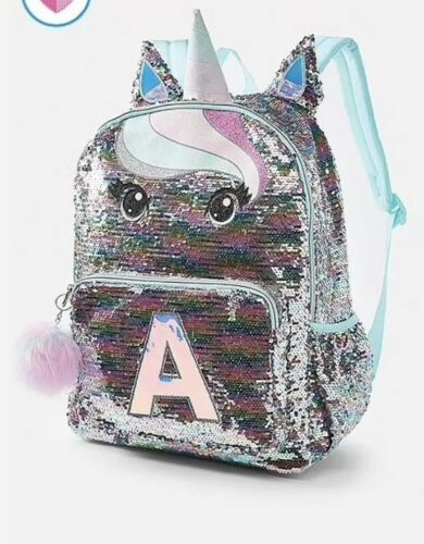 """Nwt Justice Pastel Unicorn  Initial Backpack Initial """"K"""" Regular Size Backpack"""