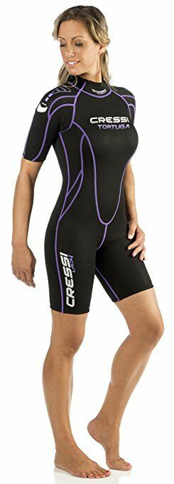 Cressi Tortuga, Wetsuit Women Shorty 3mm - Premium Neoprene