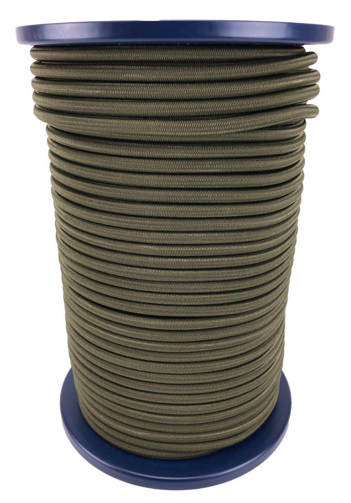 12mm Olive Elastischer Gummizug Seil X 25 Meter Krawatte Unten