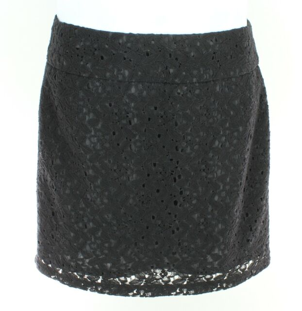 FOREVER 21 Womens Black Lace Mini Lined Skirt Size Small