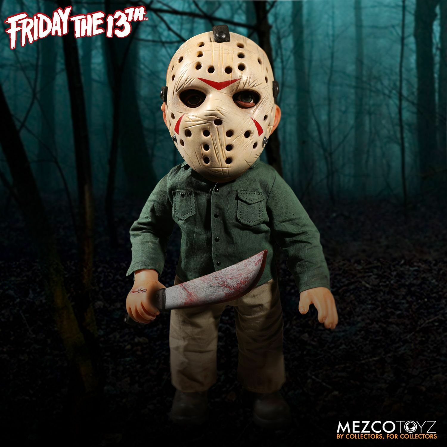 Friday the 13th Mega Jason Voorhees with Sound 15 Inch by Mezco SLIGHTLY DENTED