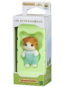 Sylvanian Families Calico Critters Dolls maple cat baby ni-101 Japan