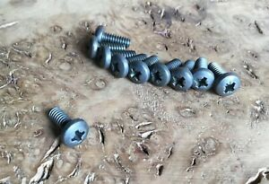 """Pan Head Steel Bolts 3//16"""" BSW X 1//2"""" Long Whitworth Machine Screws X 10"""
