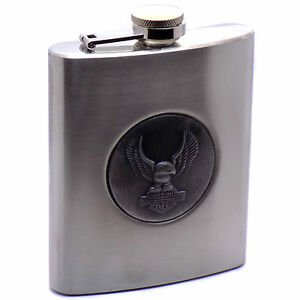 Classic-Stainless-Steel-034-Motorcycles-034-Flask-Alcohol-Whisky-Bottle-7-oz-207-ml