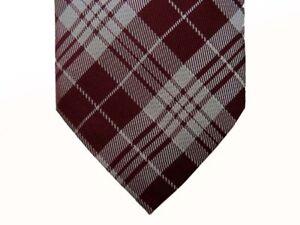 Corneliani Tie Reddish brown /& cement plaid pure silk