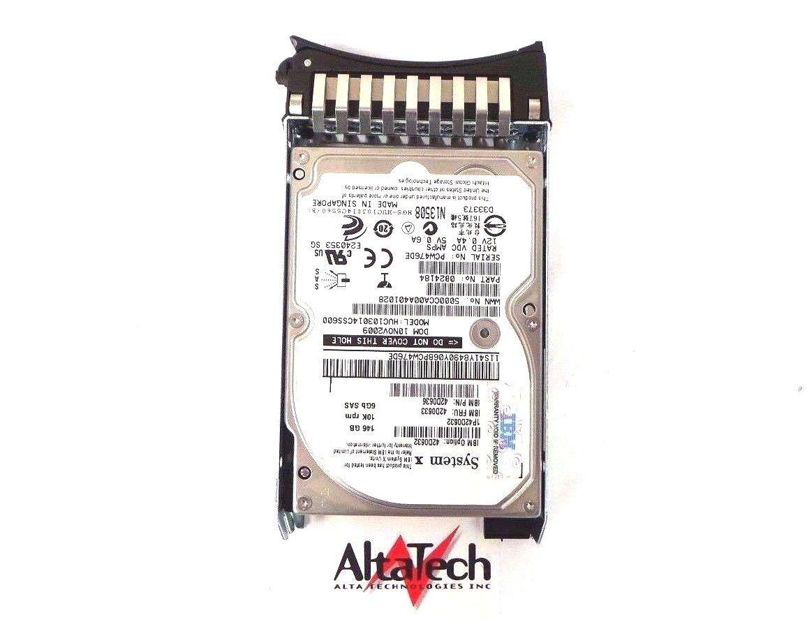 "ibm 42D0632 42D0633 146 gb 10000 rpm 2.5/"" sas sff 6gbps hs hard drive 42D0636"
