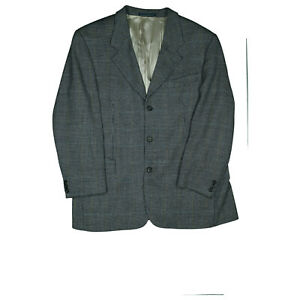 HUGO-BOSS-Herren-Sakko-Schurwolle-Blazer-Jacke-Business-Anzug-Gr-54-XL-XXL-Grau