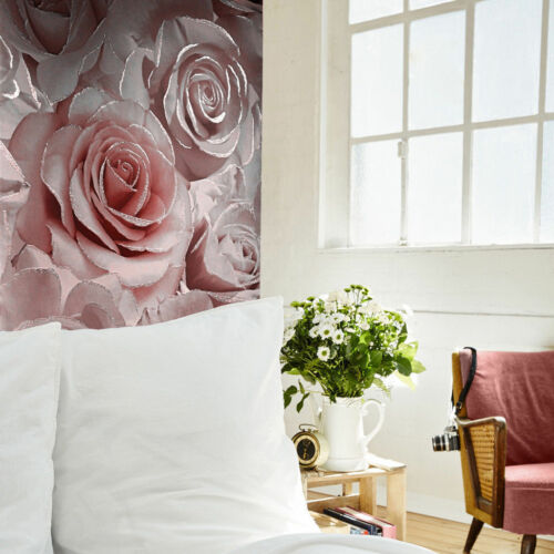 Muriva Wallpaper Luxury Roses // Floral 139521 Madison Glitter Raspberry