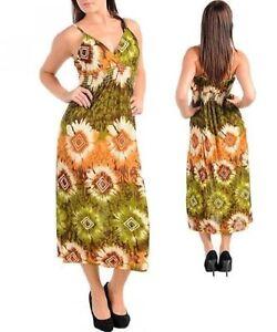 et fleurs ᄄᄂ de robe multicolore cocktail X1 nouvelle verte longue bretelles zpMLGqSUV