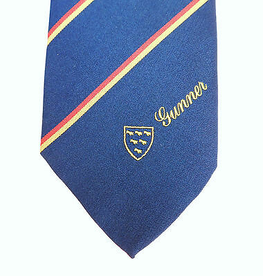 GUNNER Vintage navy blue corporate tie Martlet 1970s 1980s Company Club Sussex