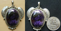 Charoite Pendant Set In Sterling Silver Hand Crafted Design 2 Only Purple Gem