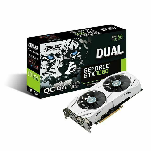 OpenGL 4.5-2 x DisplayPort 1.51 GHz Core 1.71 GHz Boost Clock 2 x 6 GB GDDR5 Asus TURBO-GTX1060-6G GeForce GTX 1060 Graphic Card 192 bit Bus Width Dual Slot Space Required Fan Cooler