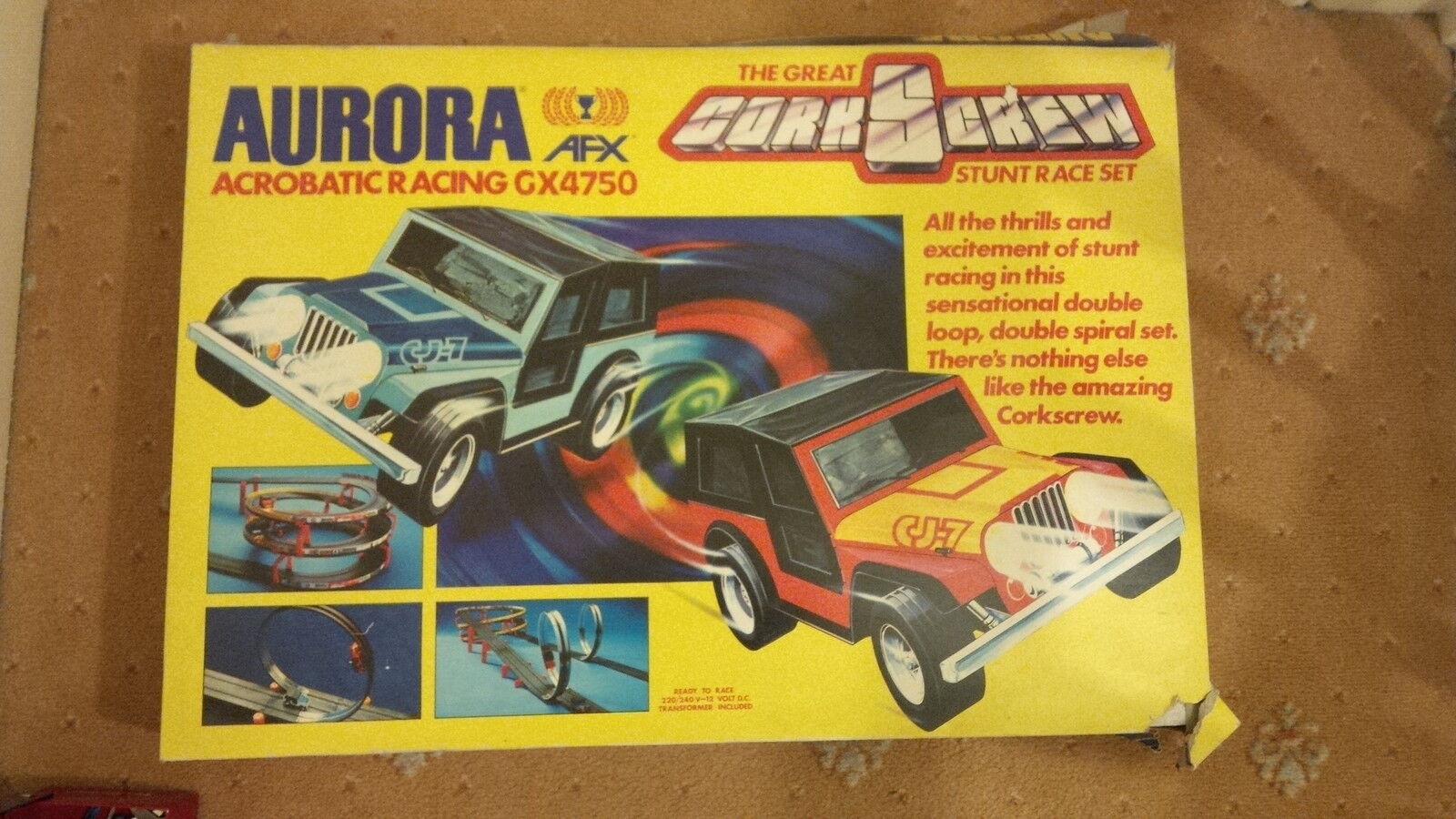 AURORA AFX  The Great Corkscrew Stunt Race  Slot Race set GX4750 RARE