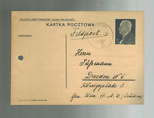 Sep 21 1939 Poland Postcard Germany Feldpost Cover to Dresden