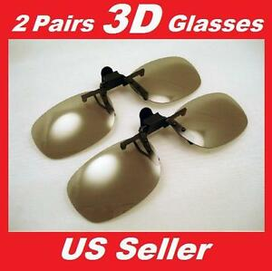 2-Pairs-Clip-On-Passive-3D-Glasses-with-Polarized-Plastic-Lenses-for-LG-LCD-HDTV