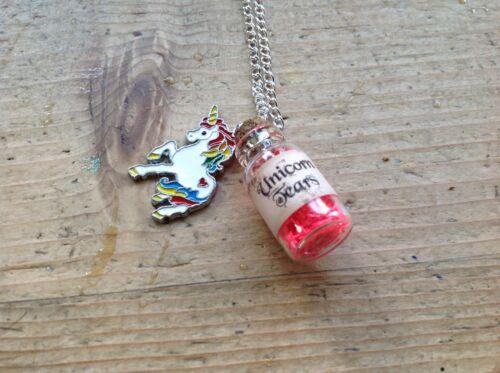 Chicas Unicornio Collar Hecho a Mano lágrimas Botella Bolsa Fiesta Ideas de regalo de cumpleaños