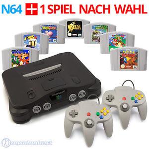 Nintendo-64-Konsole-2-Controller-Super-Mario-und-Zelda-N64-Spiele
