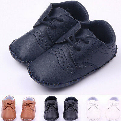 Baby Soft Sole suede/Leather Shoes Infant Boy Girl Toddler Moccasin 0-18m