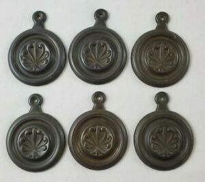 VINTAGE-Brass-Bronze-Keyhole-Cover-Plate-Antique-Old-Door-Hardware-Bronze-6-Pcs