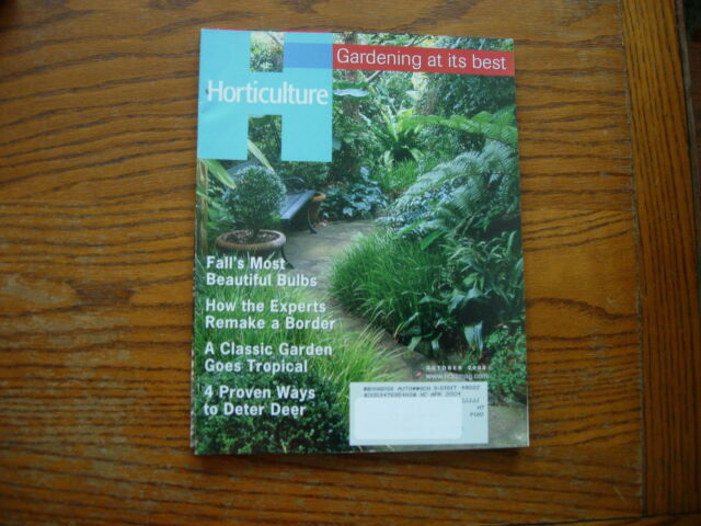 Horticulture Gardening At Its Best Magazine October 2003