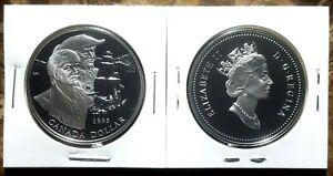 Canada 1986 Trans-Canada Train Proof Gem UNC Silver Dollar!!