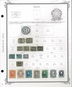 1844-1940-Bresil-Comme-neuf-amp-utilise-Postage-Stamp-collection-album-pages-valeur-825