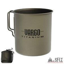 VARGO Camping Becher, Outdoor-Tasse 63g, 450ml / Travel Mug Titanium,Trink-Tasse