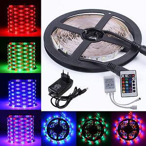 5m-3528-RGB-LED-Stripe-Leiste-Streifen-Band-Lichter-SMD-Leuchten-Lichterkette