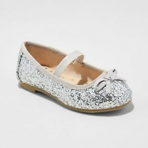 1c306c113d9d CAT & JACK CACEY GIRLS SHOES / SILVER OR RED GLITTER BALLET FLATS ...