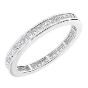 0.50carat Princess Cut Diamonds Full Eternity Wedding Ring, gold & Platinum