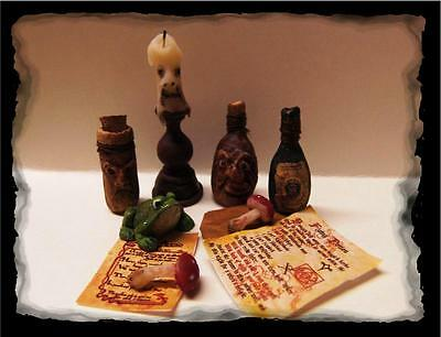 Dollhouse Miniature Witches Potion bottles candle handcrafted OOAK 1:12