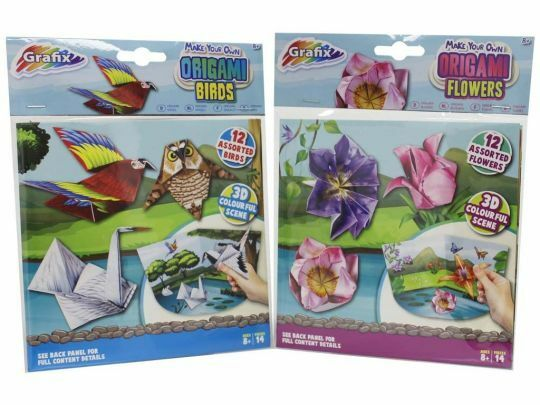 Make Your Own Origami Paper Craft Kits Create With 3D Scene Grafix Set Christmas