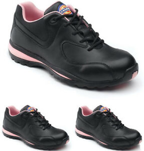 f676797602a Details about LADIES DICKIES STEEL TOE CAP SAFETY WOMENS TRAINER WORK LACE  NON LEATHER SHOES