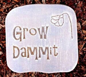 Grow-Dammit-stepping-stone-rock-1-8th-034-plastic-mold-10-034-x-10-034-x-2-034-thick