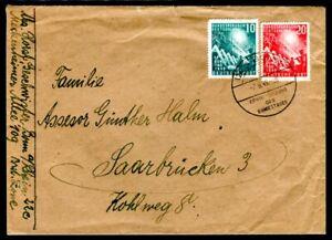 BUND-1949-111-112-portogerechter-ERSTTAGSBRIEF-FDC-ins-SAARLAND-C2835