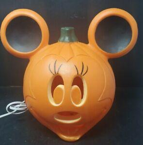 Minnie Mouse Blow Mold  Light Up Pumpkin Disney Jack O Lantern Halloween