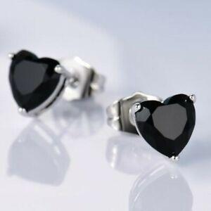 Ohrringe-Ohrstecker-Clarice-925er-Silber-1-22-Kt-schwarzer-Saphir-5x5-mm-Herz