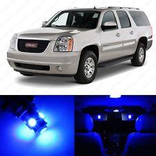 8 x Ultra Blue LED Interior Light Package For 2007 - 2013 GMC Yukon