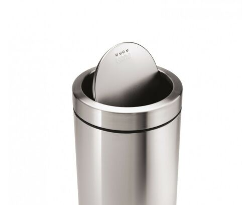 simplehuman 55 litre stainless steel swing top can