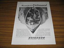1946 Vintage Ad Evinrude Outboard Motors Wood Boat Milwaukee,WI