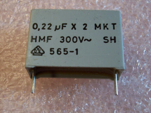 .22uf 300Vac X2 AC SUPPRESSION FILM CAPACITORS  F1772-422-3000 QTY 25