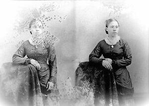 ANTIQUE-8-x-5-GLASS-PHOTO-NEGATIVE-1860-1890-SPECIAL-NEEDS-CHILD