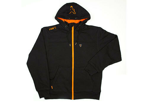 Fishing Clothing Fox Black /& Orange Heavy Lined Hoody