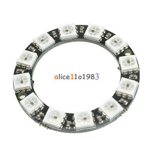 RGB-LED-Ring-12-Bit-WS2812-5050-RGB-LED-Integrated-Driver-Module-For-Arduino