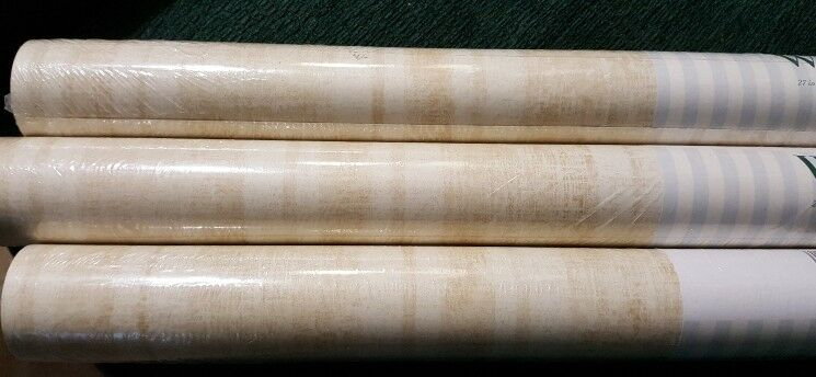 3 X New Waverly Double Roll Wallpaper. 182yds Total - Washable; Pre-Pasted