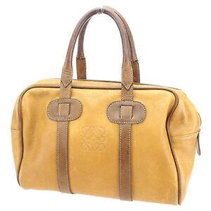Loewe-Handbag-Monogram-Mini-Agenda-Beige-Brown-Woman-unisex-Authentic-Used-T1698