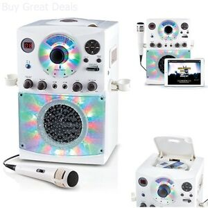 Singing Machine Bluetooth Karaoke System Disco Sound Microphone Loading Pedestal