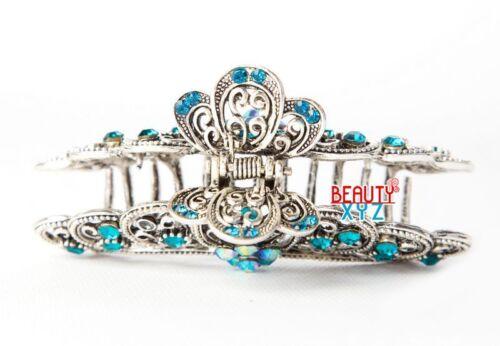 NEW Vintage Elegant Rhinestones Crystal XL metal hair Clip Hair Claw Hair clamp
