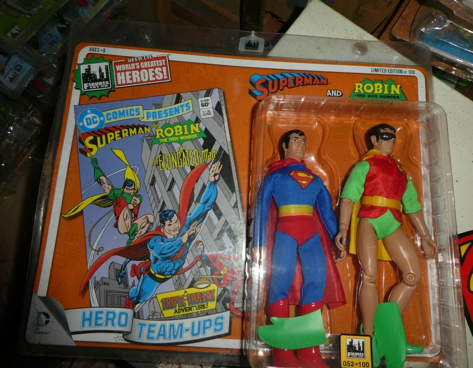 Dc Comics Hero team up Superman Robin Worlds greatest limited edition figure
