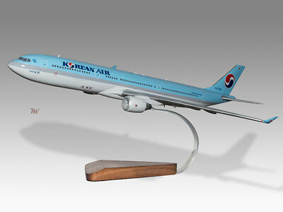 2019 New Style Airbus A330-300 Korean Airlines Solid Mahogany Wood Handcrafted Desktop Model
